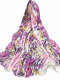 Hjyi Damen Seide Schal Klimaanlage Schal