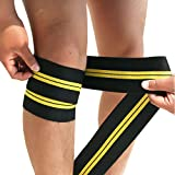 Ocamo Knee Leggings Elastic Bandage Sports Winding Kneepad Deep Squat Kneecap for Professional Weightlifting Training