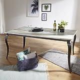 FineBuy Esstisch PINTU Massivholz Shabby Chic 180x77x90 cm Esszimmertisch modern | Design Küchentisch massiv groß | Massivholztisch Esszimmer | Vintage Tisch Naturholz rechteckig