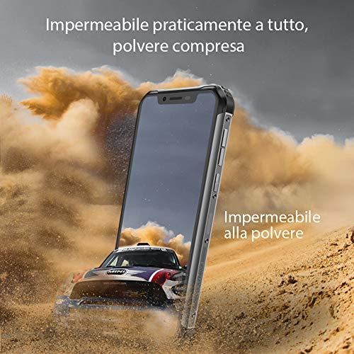 (2019) Blackview BV9600 4G Télephone Portable Incassable débloqué 4G, Smartphone IP68 Résistant Android 9.0, Helio P70 4 Go + 64 Go, 6,21'' écran FHD + AMOLED, NFC, 16 MP + 8 MP, Charge sans Fil Noir