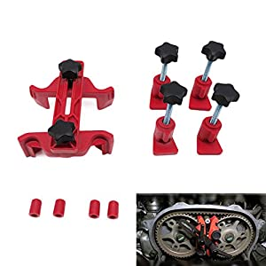 Rokoo 5 Pcs Universel Unique Twin Quad Cam Clamp Verrouillage Timing Outil Kit Camshaft