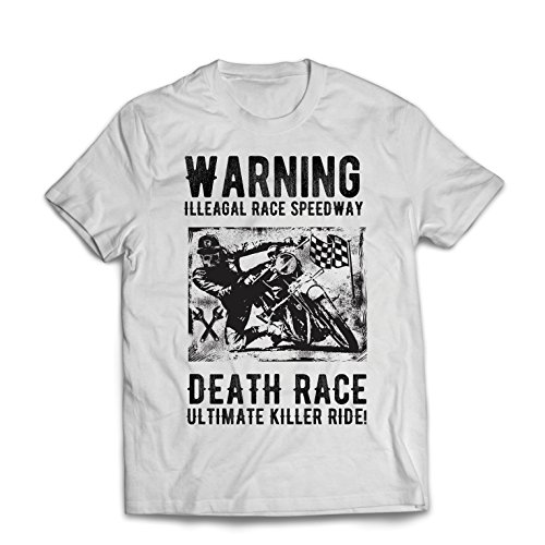 lepni.me Camisetas Hombre Carrera de La Muerte: Paseo definitivo, Carreras de Motos,...