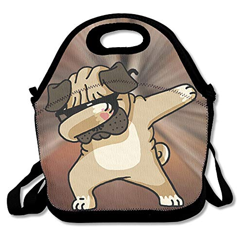 92d4939fa42 Dabbing Pugs Dog Dab Dance Portable Food Bags Lunch Bags Convenient Lunch  Packet Tote