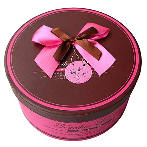 Romantische Runde Geschenkbox Blumen Parfüm Schmuck Kosmetik Verpackung Box für begabte Damen