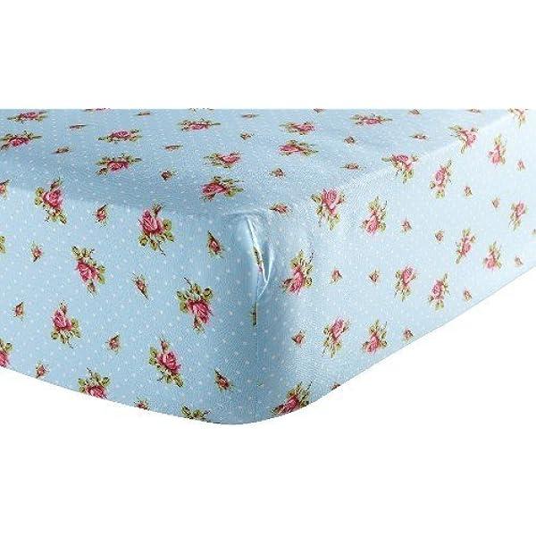 PiP Spannbettlaken Upsy Daisy Blue 4 Größen Baumwolle Perkal Spanner Elastisch