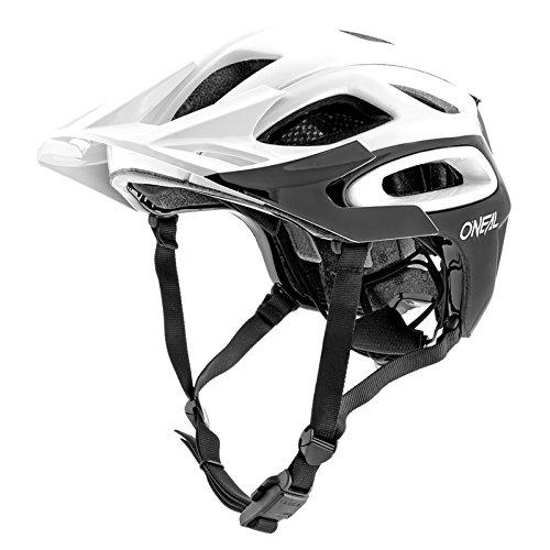O\'Neal Orbiter II Solid Fahrrad Mountain Bike Helm MTB Enduro Trekking BMX Skate Rad Sport, 0616, Farbe Weiß, Größe M/L