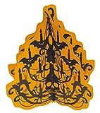 erdbeerparty–Décoration Halloween Party Cardboard Lustre chauve-souris de tête de mort, 1pièce, 38cm, orange