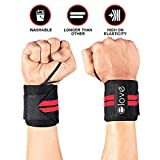 Elove Wrist Wraps Support With Thumb Loops - Professional Grade Wrist Braces