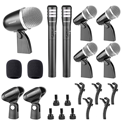 neewerr-nw-7a-wired-microphone-kit-for-drumguitar-and-other-musical-instruments-includes-1big-drum-m
