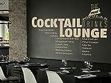 Klebeheld® Wandtattoo Cocktail Lounge - The Most Popular Drinks