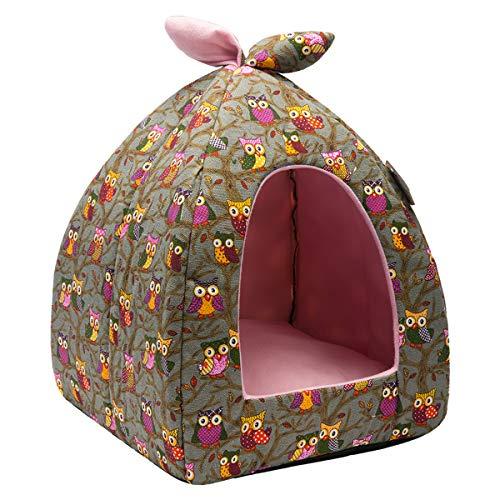 Hollypet Auto-Calentamiento 2-in-1 Casa cómoda Plegable