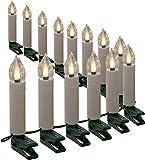 Lichterkette mit 30 Kerzen LED warmweiß 12 m Kerzenlichterkette innen außen