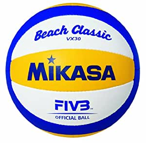 Mikasa Beach Classic VX 30 1612 Beach Volleyball Blue / Yellow / White