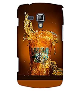PrintDhaba Beer Glass D-2086 Back Case Cover for SAMSUNG GALAXY S DUOS 2 S7582 (Multi-Coloured)