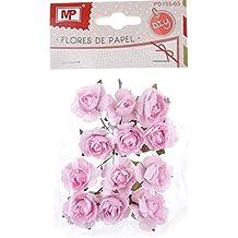 MP PD155-03 - Flor de papel, 12 unidades, color rosa pálido