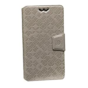 Jo Jo Cover Aarav Series Leather Pouch Flip Case With Silicon Holder For MTS Blaze 4.0 Golden