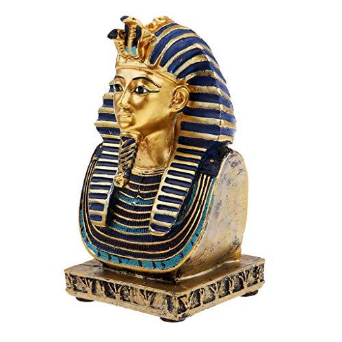 Höhe 7 Stück Esszimmer (perfk 1 Stück Figur Statue Sammlerfigur Dekoration für secretaire oder Esszimmer und Kunst-Sammler - Ägyptischer Pharao)
