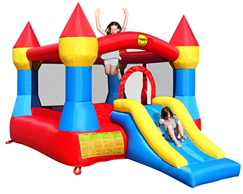 Duplay Happy Hop Kids Turret Bouncy Castle with Slide