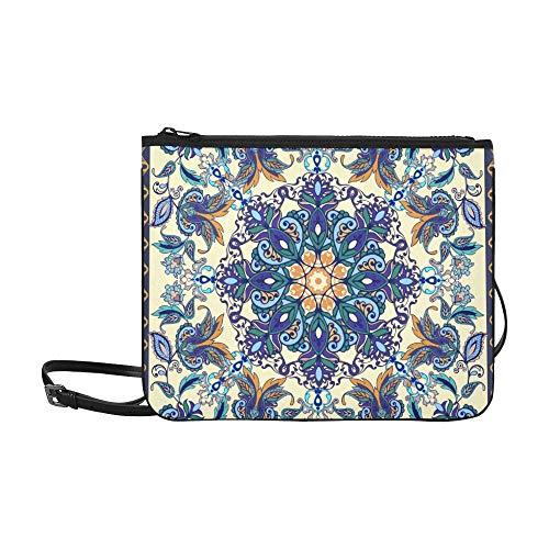 SHAOKAO Bunte Blumen Flores Tulpen Blätter Muster Benutzerdefinierte hochwertige Nylon Slim Clutch Cross Body Bag Umhängetasche -