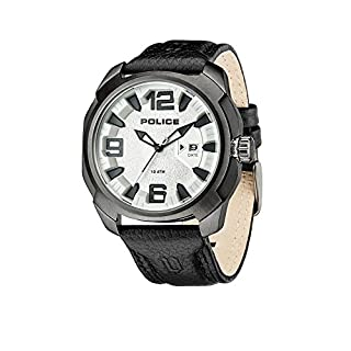 Police Alcron Herren-Armbanduhr Analog Quarz Leder - PL.93831AEU/04