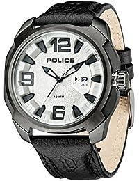 Police PL.93831AEU 04 - Reloj de cuarzo para hombres con esfera negra y  correa negra… b73f1b895f1