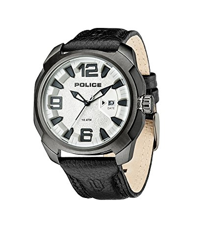 Police-Mens-PL93831AEU04-Quartz-Watch-with-Black-Dial-Analogue-Display-and-Leather-Strap