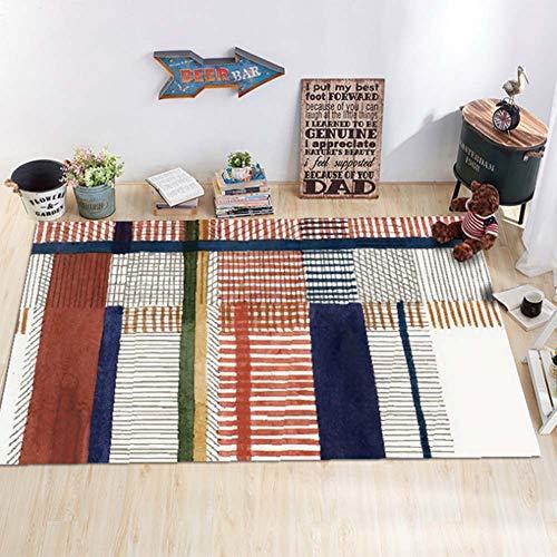 Zmymzm Creative Abstrakte Teppich Geometrisches Muster Wohnzimmer, Schlafzimmer, Diele, Küche Carpet Kinderzimmer Spielmatte Home Decor zu Spielen,D,140 * 200cm