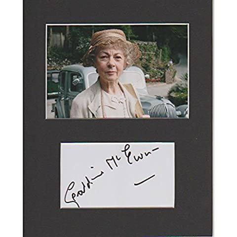 Marple–Geraldine MacEwan authentique Signé Autographe modèle COA