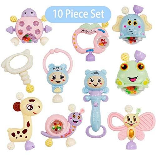 Tier Hand Jingle Schütteln Glocke Schöne Hand Schütteln Ring Rasseln Spielzeug Neugeborenen Beißring Spielzeug 10 Teile / Satz ()
