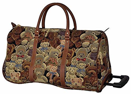 Trolley Reisetasche Gobelin-Stil Signare Handgepäck Reise Tasche Gepäck Urlaub V Fa. Bowatex (Katzenfamilie) Bärenfamilie