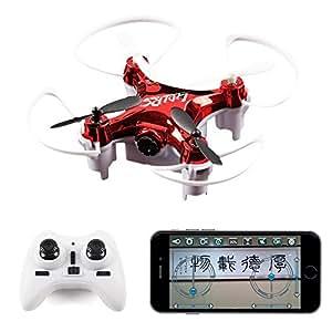 2016 nuovi modalità High attesa LiDi RC L7HW (Aggiornamento L7W) 2.4GHZ 6 assi mini WiFi FPV 360 flip RC Quadcopter, con 0.3MP HD Camera Headless RTF Drone (Random: rosso, nero)