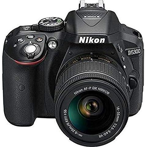 Nikon D5300 24.2MP Digital SLR Camera  Black  with AF P 18 55mm f/ 3.5 5.6g VR Kit Lens, 16 GB Card and Camera Bag