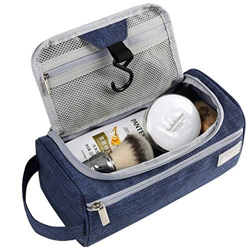 Eono Essentials - Trousse de toilette de voyage à suspendre pour hommes et femmes, pour accessoires de toilette, de sport et de rasage et vêtements, Bleu ma