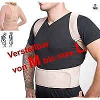 """MTEG533 - para la camiseta """"M a L"""" - médico ortopédico estabilizador de la columna vertebral RECTA NEOPRENO calidad SOPORTE - Respaldo - con correas ajustables y 12 imanes"""