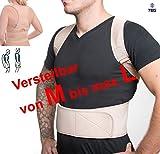 """MTEG533 - für T-Shirt Größe """"M bis L""""- orthopädischer GERADEHALTER zur Haltungskorrektur RÜCKENBANDAGE für die perfekte Rücken Haltung hochwertiges NEOPRENE verstellbare Träger und 12 Magnete"""
