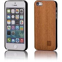 32nd® Funda de Madera Natural para Apple iPhone 5 5S SE - Diseño de Madera Real - Peral