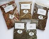 Poissons tropicaux Nourriture 5 packs, flocon, Granulés, lyophilisés 12 appâts, gaufrettes d'algues, Daphnie