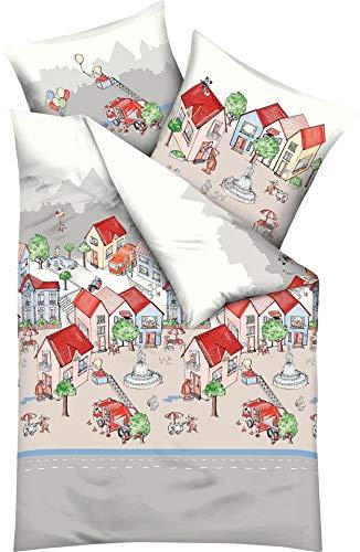 Kaeppel Biber Kinderbettwäsche Stadtleben 1 Bettbezug 135 x 200 cm + 1 Kissenbezug 80 x 80 cm