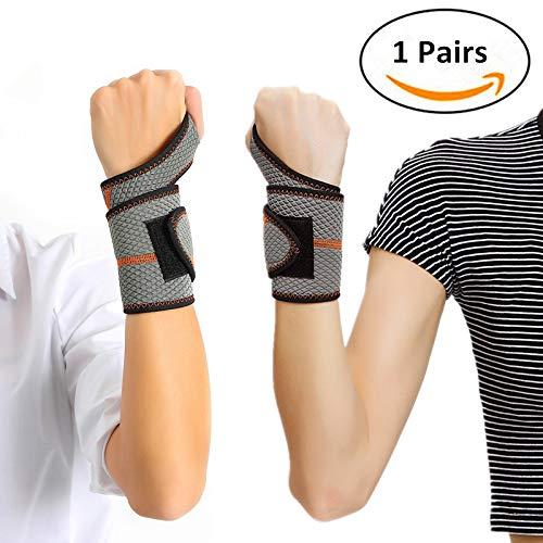Dragonne prise en charge de la version mise à niveau, pour poignet Bracelet poignet protéger Wrister Idéal pour les entorses, blessures ou de la main Sports Support, (Une paire) Taille unique, convient à gauche et à droite–Mixte