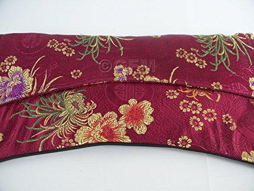 GFM Fastglas Design Oriental en forme d'enveloppe en tissu Satin Pochette grande taille - Burgundy Floral