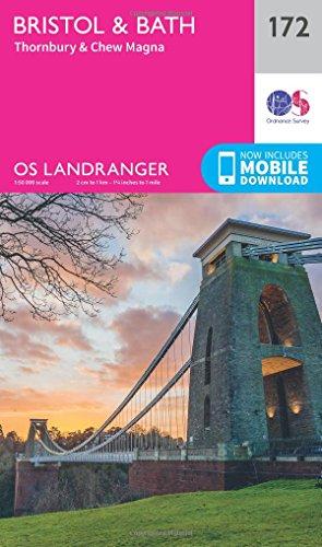 landranger-172-bristol-bath-thornbury-chew-magna-os-landranger-map