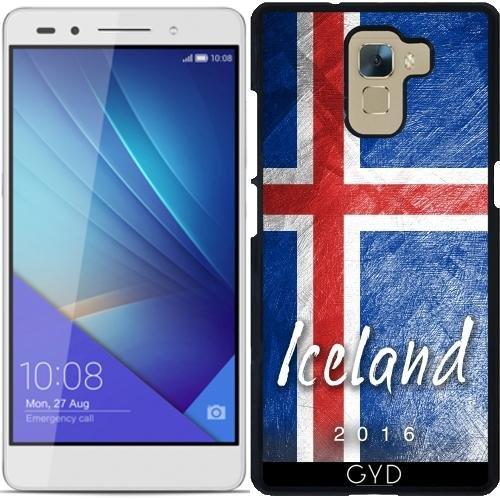Custodia per Huawei Honor 7 - Bandiera Islanda by Julien Kaltnecker