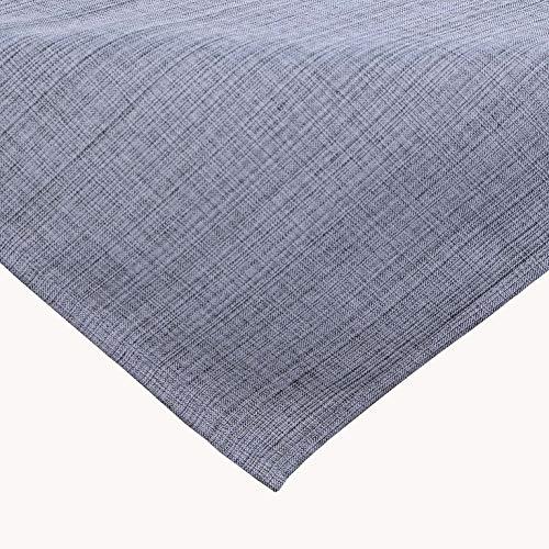 Kamaca Outdoor Tischdecke Gartentischdecke Garden - die perfekte Textile Decke für drinnen und draußen fleckabweisend witterungsbeständig knitterfrei (grau - meliert, Tischdecke 90x90 cm)