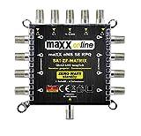 Commutatore satellitare 5 in 8 Multiswitch 5/8 - a risparmio energetico con ZERO-Watt funzione-Standby - eMS 58RPQ compatibile con Quad-LNB
