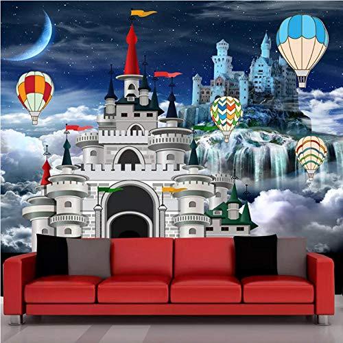 fototapete 3d effekt Benutzerdefinierte Wandbild Tapete 3D Schloss Märchen Foto Wandmalerei Kinderzimmer Cartoon Hintergrund Wanddekor Papel De Parede