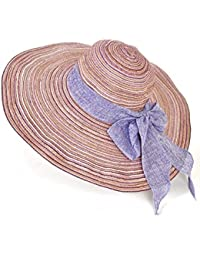 Beach Sun Hat Bowknot Beach Straw Hat Summer Travel Seaside Vacation Big Hat Foldable Sunscreen Hat Soft and comfort