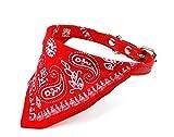 SODIAL(Wz.) Einstellbar Tuch Kopftuch Halstuch Bandana Schal Kragen mit kleiner Groesse in Rot fuer Haustier Hund Katze