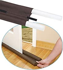 Aksh's Twin Door Draft Guard. Stop Unwanted Light and Stop Escaping of Cool Air from Air Conditioner Split Or Window
