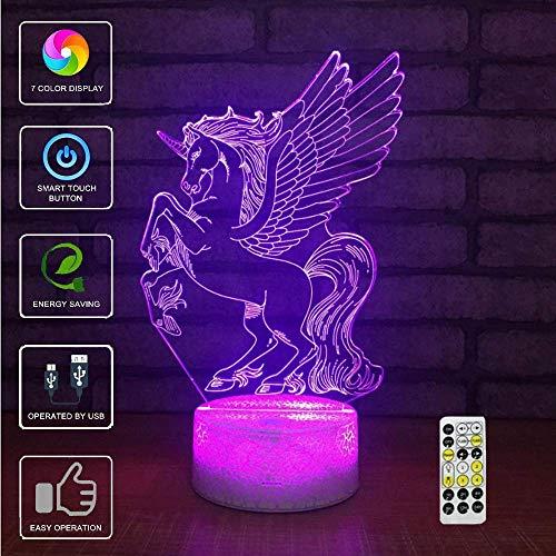 3D LED Illusion Tischlampe 7 Farbwechsel Nachtlichter Schlafzimmer Home Decor Hochzeit Geburtstag Weihnachten und Valentinstag Geschenk Kunst und Romantische Atmosphäre