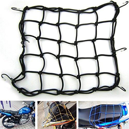 R 40 40cm filet araignee Filet a bagages avec 6 crochets pour Bike moto scooter Noir SODIAL